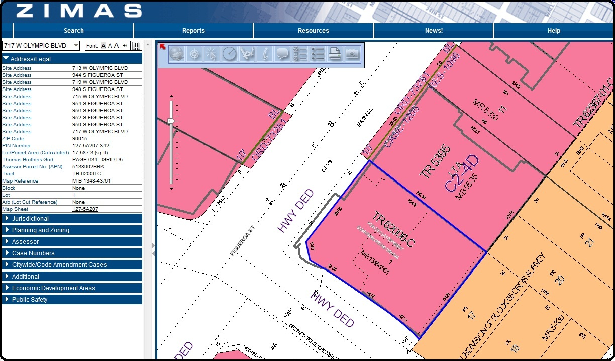 In The Know ZIMAS  City Of Los Angeles Zone Mapping System The - Los angeles assessor map