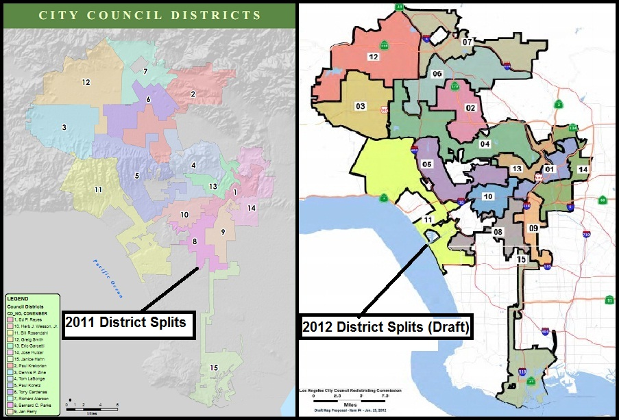 New Los Angeles City Council District Boundaries Released